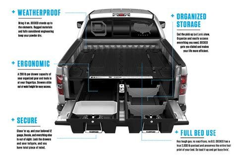 truck bed storage decked 174 truck bed storage system