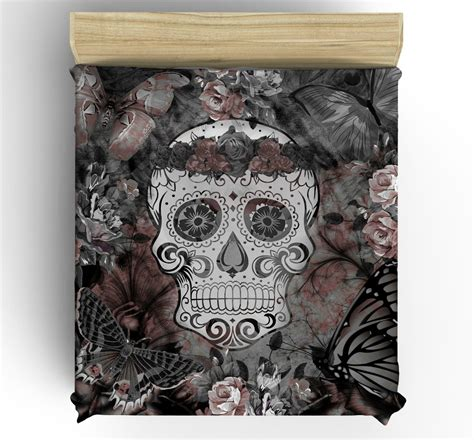 day of the dead bed set skull bedding day of the dead duvet comforter cover set