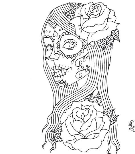 day of the dead art coloring pages day of the dead coloring pages day of the dead girl by