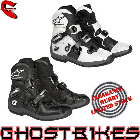 short motocross boots alpinestars tech 2 motocross pit bike off road dirtbike
