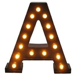 metal marquee letter threshold target
