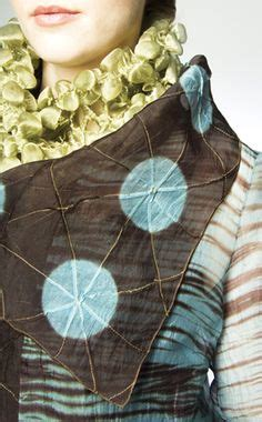 Organza Silk Ori ori nui shibori folded then use a running stitch fibre shibori creative