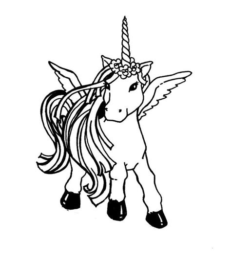 Coloring Page Unicorn With Wings by Unicorn With Wing Coloring Pages Coloring Page