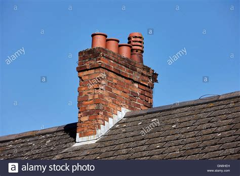 Chimney Pictures - chimney pots on house stock photos chimney pots