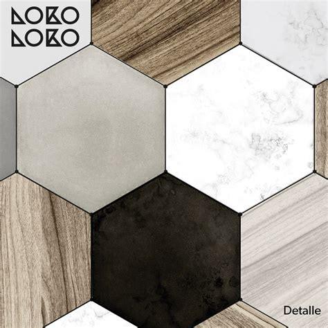 azulejo de madera azulejos hexagonales de cer 225 mica y madera vinilo para suelos