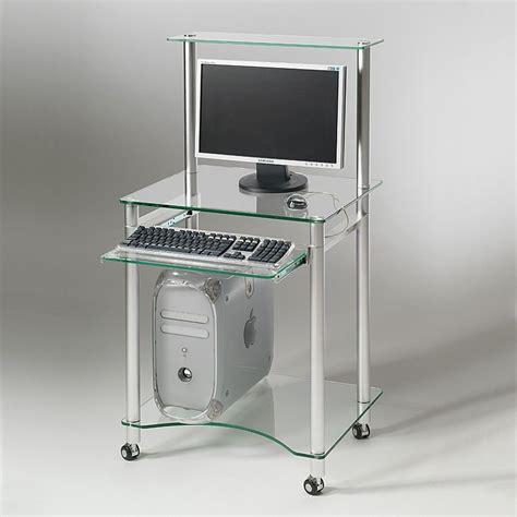 scrivanie porta pc scrivania porta pc in vetro compact 60 x 50 cm