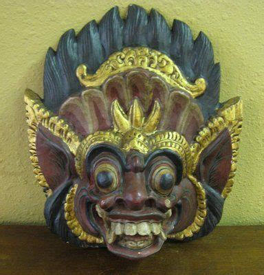 ebay indonesia vintage balinese polychrome carved dance mask indonesian
