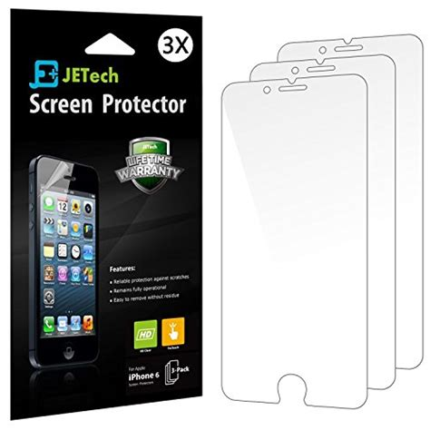 Sale Smart Screen Protector For Iphone 6 Iphone 6 iphone 6 screen protector jetech 3 pack iphone 6s 6 screen protector hd clear retail