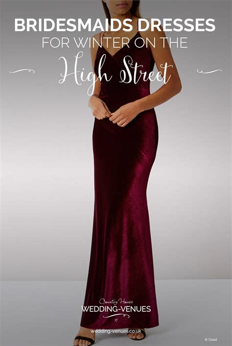 High Street Bridesmaid Dresses For Winter   CHWV