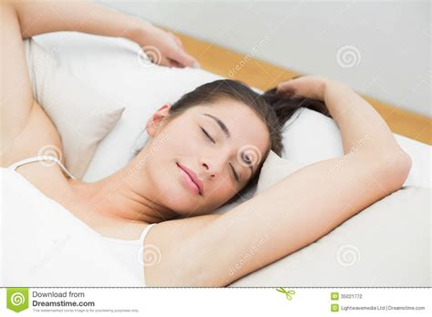 bed eyes beautiful woman sleeping in bed with eyes closed stock photography image 35021772