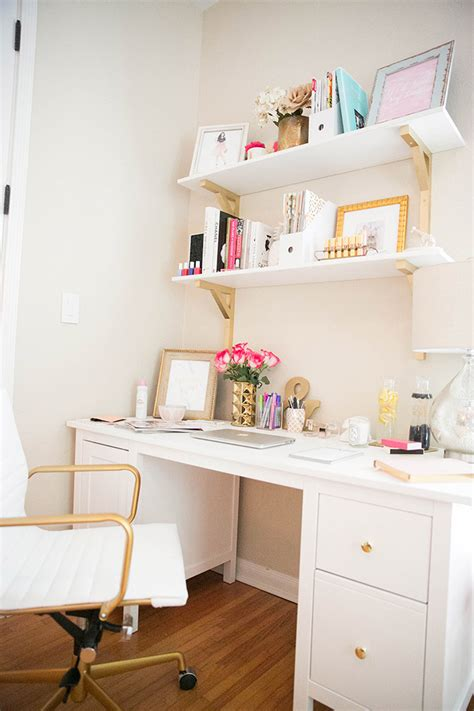 white and gold desk chair how to a small office space work the fashionista s