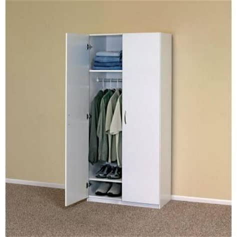Closetmaid Wardrobe Cabinet by Closetmaid 30 In 2 Door Wardrobe Cabinet Wardrobes