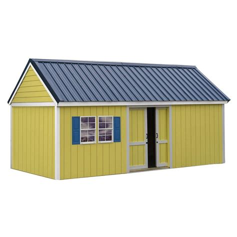 10 X 16 Wood Shed Kit With Floor - best barns fairview 12 ft x 16 ft wood storage shed kit