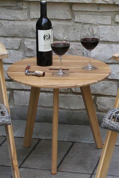 outdoor interiors tna2000 20 in round teak outdoor accent 20 quot diameter outdoor teak hardwood lounging table