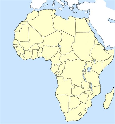 blank africa map blank map of africa geography