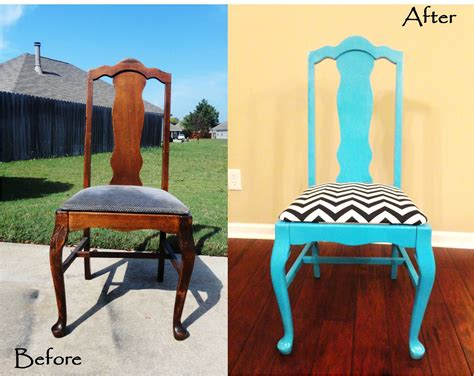 Refurbished Furniture Before And After by Refurbished Chairs On Wooden Chair Redo