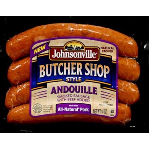 johnsonville butcher shop smoked andouille sausage