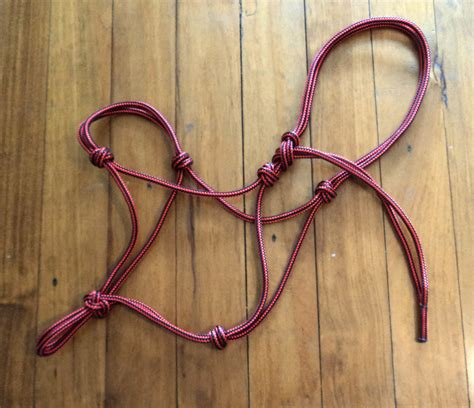 Handmade Rope Halters - handmade equipment handmade accessories flashy tack