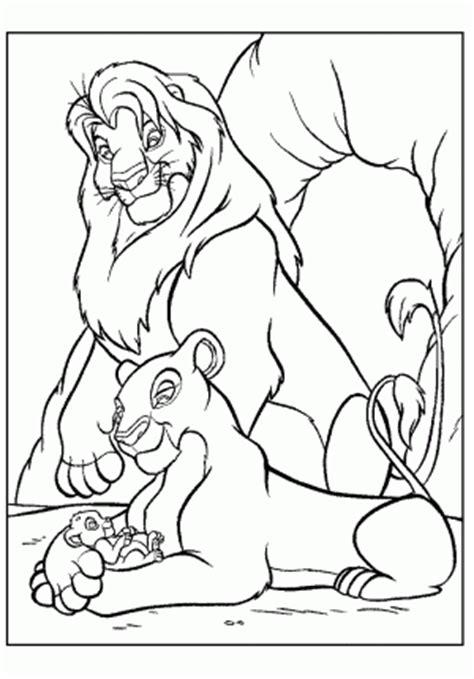 pride of lions coloring page el rey leon para colorear pintar e imprimir