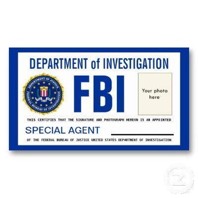 detective identification card template for id cards templates template fbi badge sep 17