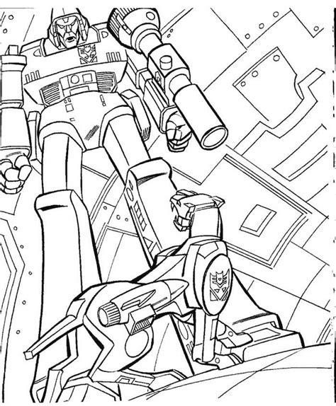megatron coloring pages coloring home