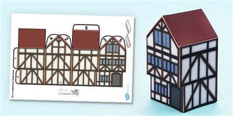 printable tudor house template great fire of london display paper model house model