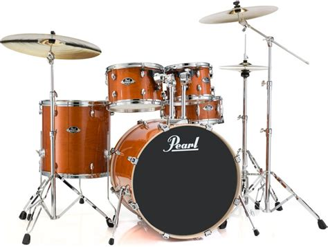 Drum Set Giveaway - pearl export exl 5 piece drum set with hardware honey amber sweetwater