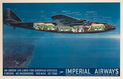 flying boat the movie dp vintage posters imperial airways original travel