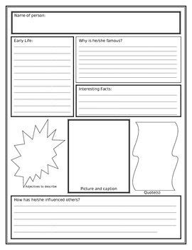 inventor biography graphic organizer biography research poster and research projects on pinterest