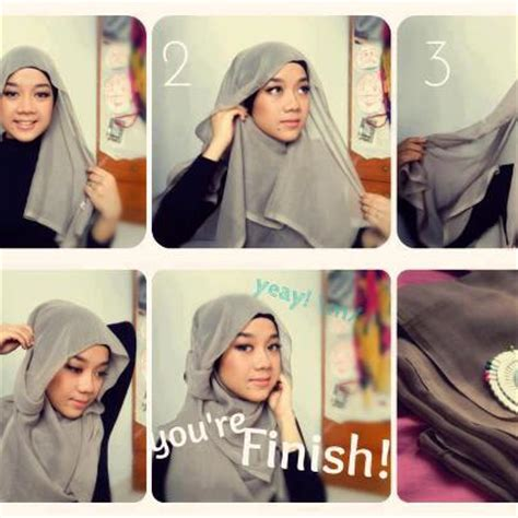 Jilbab Segi Empat Hana Blognya Dimas Tips Cara Memakai Jilbab Kerudung Modern