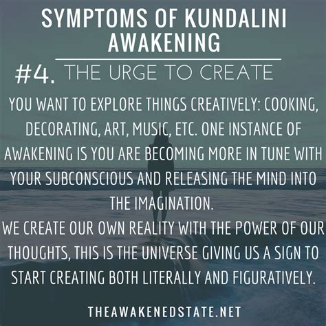 imagination creates reality how to awaken your imagination and realize your dreams books symptoms of kundalini awakening 4 the urge to create you