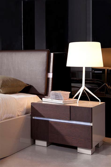 modrest anzio modern brown oak nightstand nightstands
