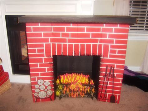 Cardboard Fireplace With Chimney by Faux Cardboard Fireplace Mantel Hip Simple