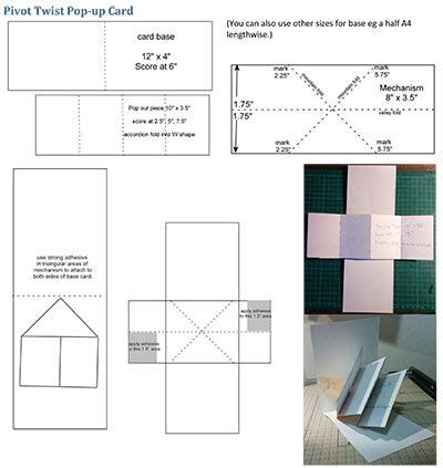 twist turn card template the world s catalog of ideas