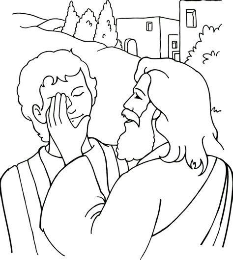 coloring pages of jesus miracles bartimeus coloring pages