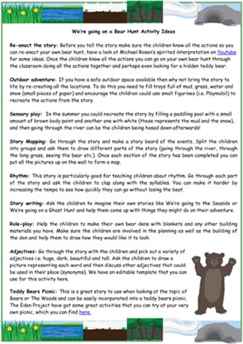 activity ideas we re going on a hunt activity ideas free early
