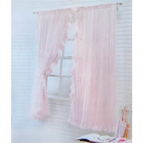 Light Pink Ruffle Curtains Ruffle Chic Sheer Curtain Set