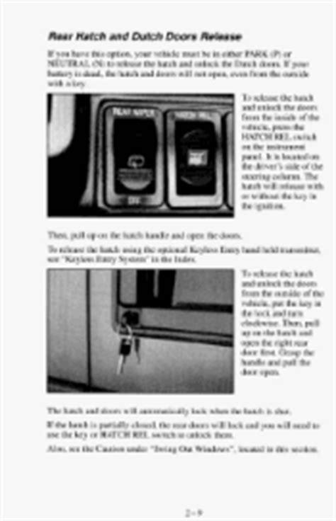 security system 1995 chevrolet astro user handbook i need a door diagram for 1995 chevy van the door lock 1995 chevrolet astro support
