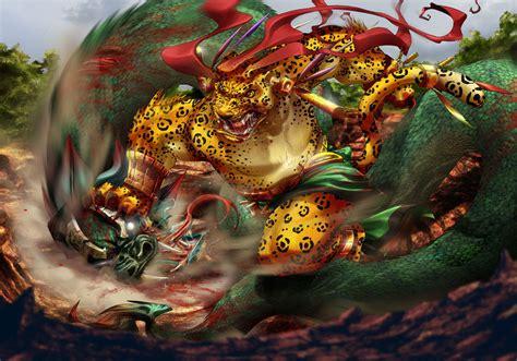 imagenes de jaguar azteca tezcatlipoca vs quetzalcoatl by gureiduson on deviantart