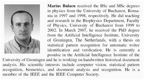 biography of students marius bulacu s homepage artificial intelligence