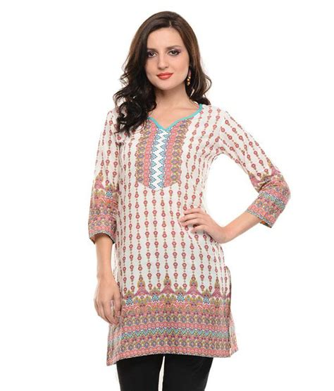 globus white cotton knitted v neck kurti buy globus white cotton knitted v neck kurti sritika white cotton 3 4th sleeves knitted printed v neck