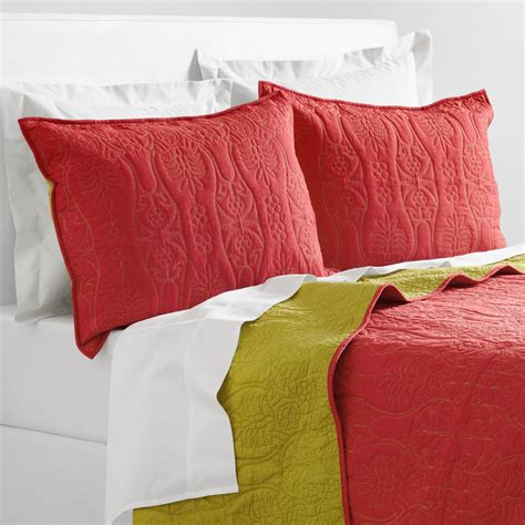 Coral Quilt Bedding Coral And Oasis Green Bedding Collection World Market
