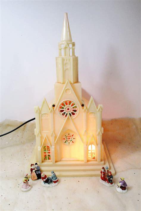 vintage lighted musical windup christmas church silent night
