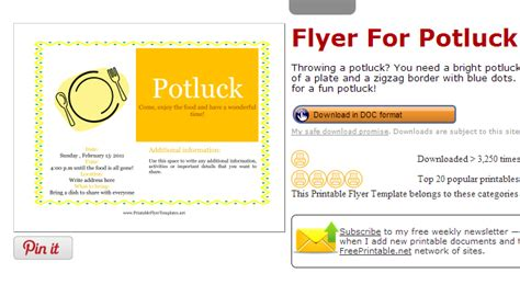 free templates for potluck flyers 5 potluck flyer templates af templates