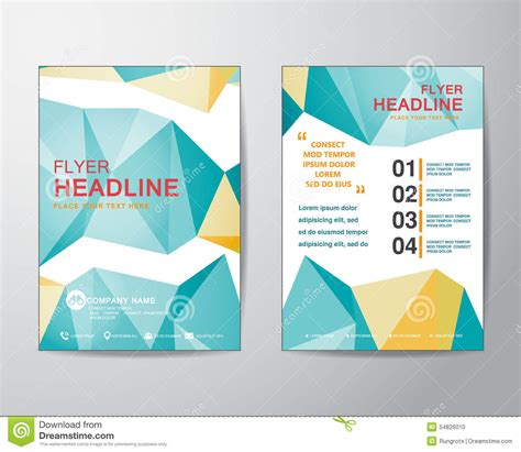 vector layout magazine abstract polygon design vector template layout for