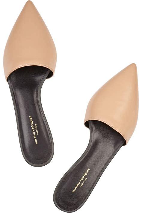 flat mules shoes narciso rodriguez flat mules shoe la la