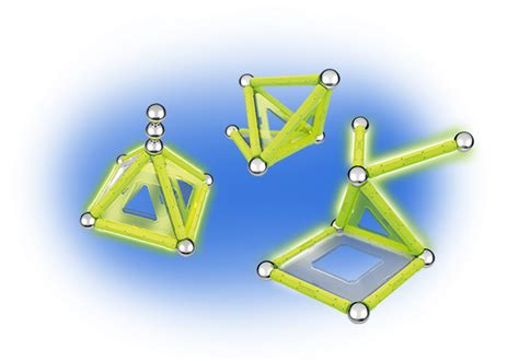 Geomag 337 Panels Glow 104 Pcs Made In Switzerland T0210 glow 22 the geomag with 22 phosphorescent magnetic pieces
