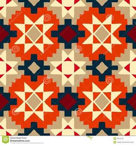 pattern with geometric motifs native american geometric pattern stock vector image
