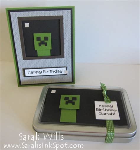 What Do Minecraft Gift Cards Do - punch art meets the minecraft creeper sarahs ink spot