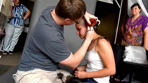 wife shaving husband shaved my head youtube